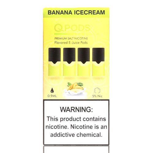 Pod Banana Ice Cream  - Compatíveis com JUUL - QPods