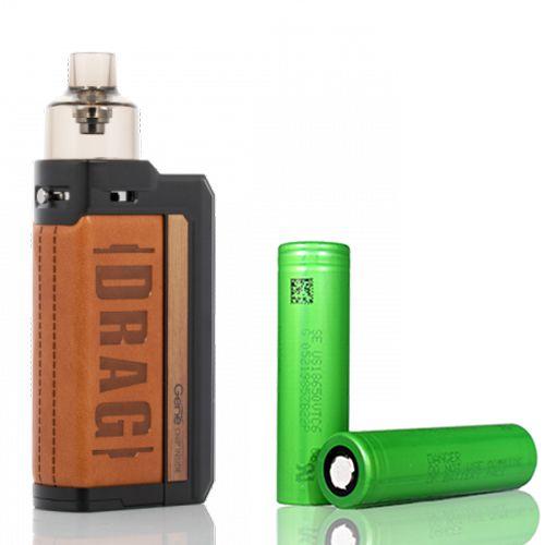Combo Kit Pod Drag Max Com 2 Baterias  18650 - Voopoo