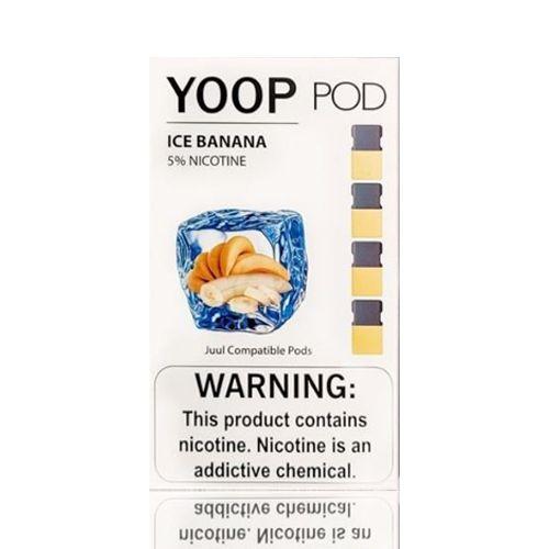 Yoop Pods Ice Banana - Compatíveis com Juul- Yoop Vapors