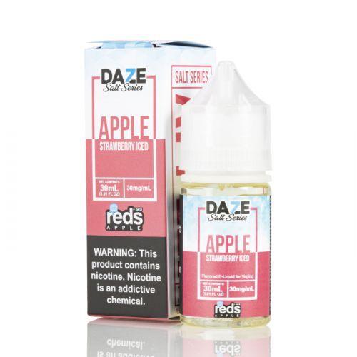 Líquido 7 Daze Reds Apple E-juice Salt - Apple Strawberry Iced