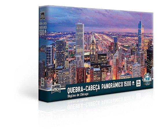Skyline de Chicago – Quebra-cabeça 1500 peças panorâmico - 2518