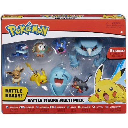 KIT COM 8 FIGURAS - POKEMON - DTC