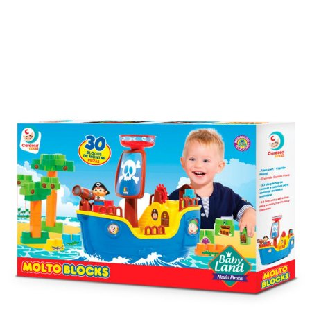 MOLTO BLOCKS - BABY LAND - NAVIO PIRATA - 8002