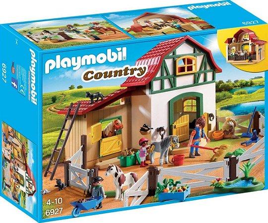 PLAYMOBIL - FAZENDINHA COM PONEIS - 6927