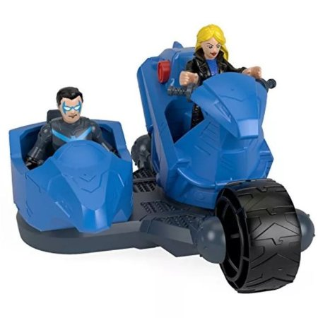 IMAGINEXT - DC NIGHTWING E MOTO SUPER POTÊNCIA - M5649 - FISHER PRICE
