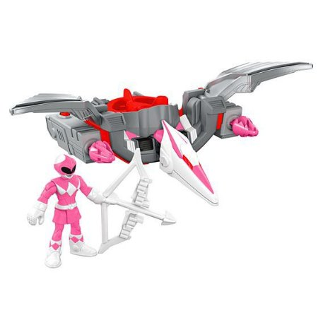IMAGINEXT - POWER RANGERS™ RANGER ROSA E ZORD PTERODÁCTIL - CHJ01 - FISHER PRICE