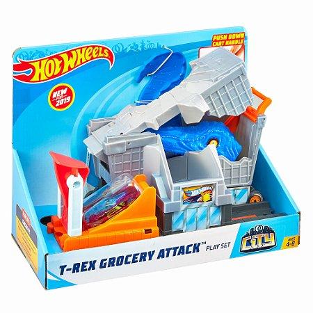 Hot Wheels - Ataque Do T-rex Na Mercearia - Mattel