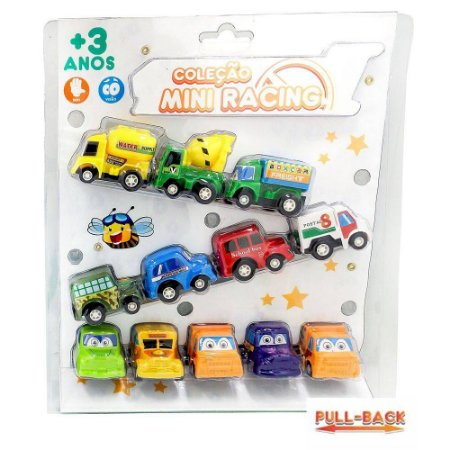 KIT COM 12 CARRINHOS - ZOOP TOYS