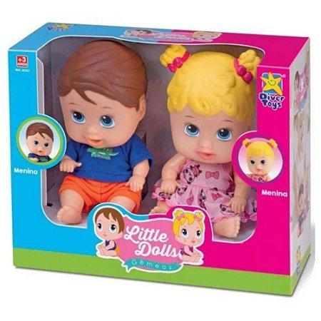Bebês Gêmeos - Little Dolls - Divertoys