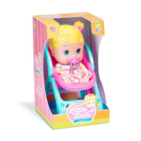 Boneca Passeio - Little Dolls - Divertoys