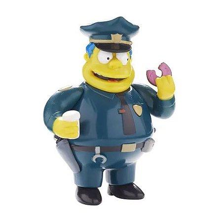 Boneco Chefe Wiggum 15cm com som - Os Simpsons - Multikids