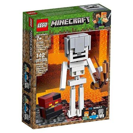 LEGO Minecraft - Esqueleto Gigante e Cubo de Magma