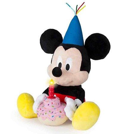 Pelúcia Mickey Feliz Aniversário - Disney - Multikids