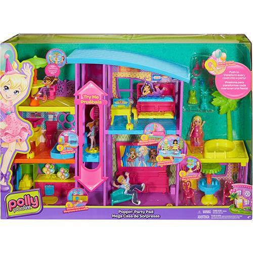 DNB25 Boneca Polly Mega Casa de Surpresas - Mattel