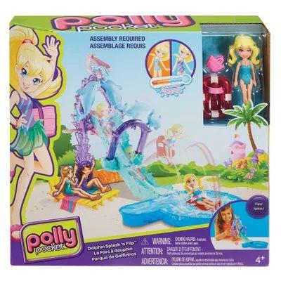 FNH13 Playset e Mini Boneca Polly Pocket - Parque Aquático Golfinho - Mattel