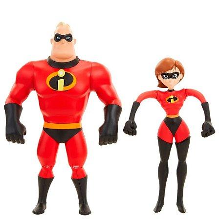 Figuras Articuladas Sr Incrível e Mulher Elástica - Os Incríveis 2 - Sunny