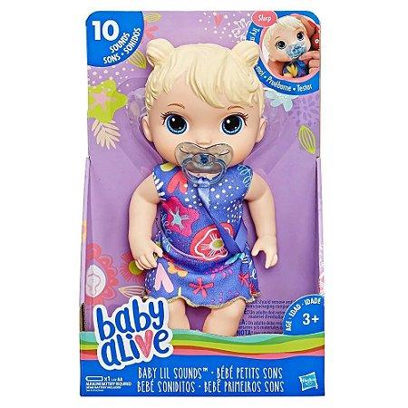 7400c5f862 Boneca Baby Alive Primeiros Sons - Loira - Hasbro - Loja do André ...