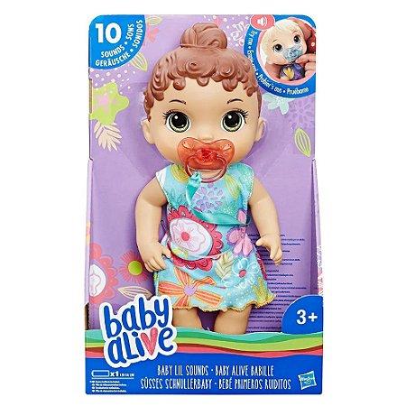 1e20dc8d55 Boneca Baby Alive Bebê Primeiros Sons Morena E3688 - Hasbro - Loja ...