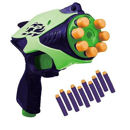Lançador de Dardos Automática - 10 Dardos - Verde - Unik Toys