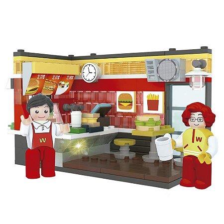 Blocos de Montar - Cenário Fast Food - Xalingo