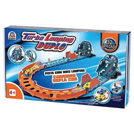 Pista Turbo Looping Duplo - Braskit