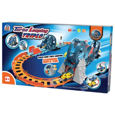 Pista Turbo Looping Triplo - Braskit