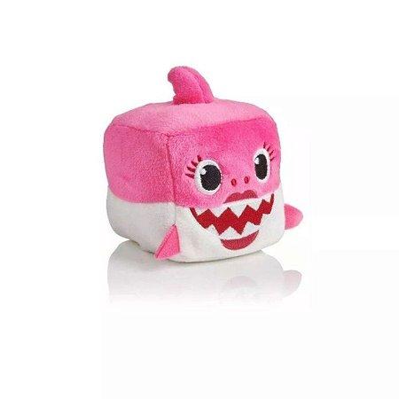 Pelúcia Musical Baby Shark - Cubo Pink - Toyng 39258