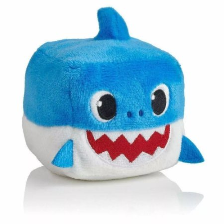 Pelúcia Musical Baby Shark - Cubo Azul - Toyng 39258