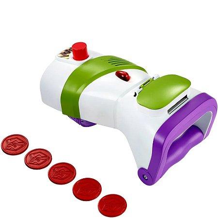 Toy Story 4 Buzz Lightyear Lançador de Discos Rapid Disc Blaster - Mattel