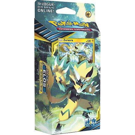 Starter Deck Pokémon Circuito Fulminante Sol e Lua 10 Elos Inquebráveis Zeroara - Copag