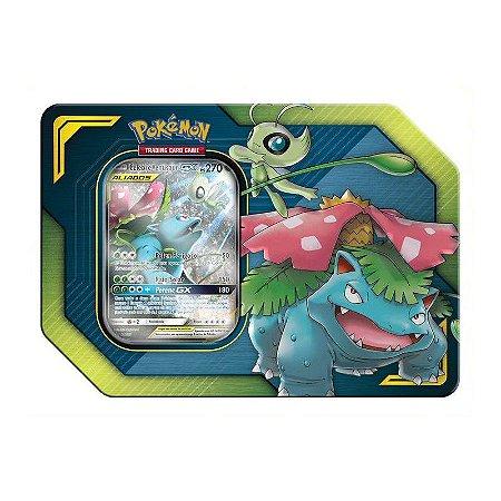 Lata Pokémon TCG - Pokemon GX - Celebi e Venusaur - Copag