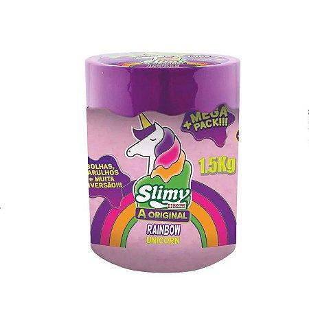 Geleca - Slimy Slime Arco Íris - Roxo - 1,5kg - Toyng