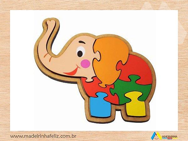 Quebra-Cabeça Elefante