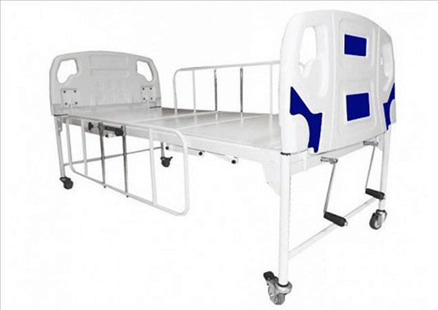 Cama Hospitalar 2 Movimentos Semi-Luxo - Manual -  com Grade Deslizante