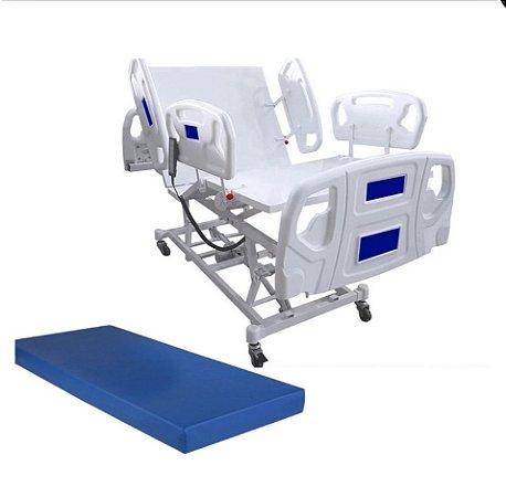 Cama Hospitalar Motorizada 3 Movimentos com Elevação do Leito Luxo