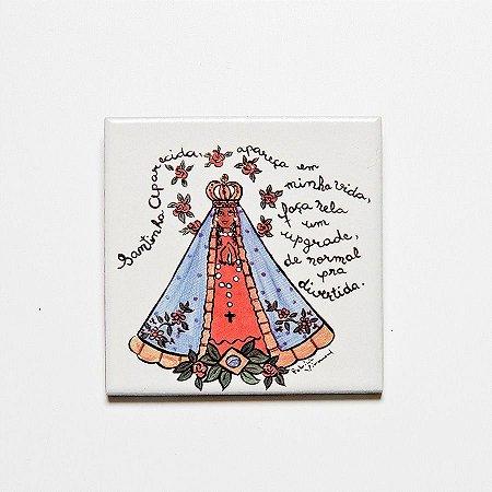 Azulejo Nossa Senhora Aparecida - Linha Santeiro