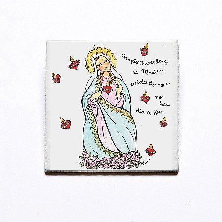 Azulejo Coração de Maria - Linha Santeiro