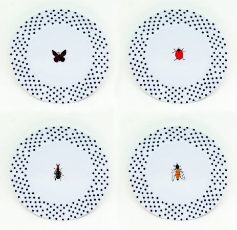 Jogo de Pratos de Sobremesa - Bugs