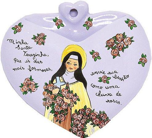 Vaso de Parede Coração Santa Terezinha - Santeiro