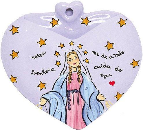 Vaso de Parede Coração N.S. das Graças - Santeiro