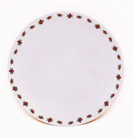 Prato de Jantar Rosas - Linha Exclusiva
