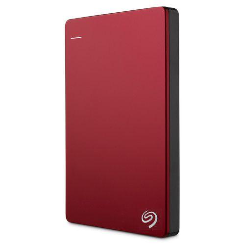HD Externo Seagate Backup Plus Slim 2TB compatível com MAC Vermelho