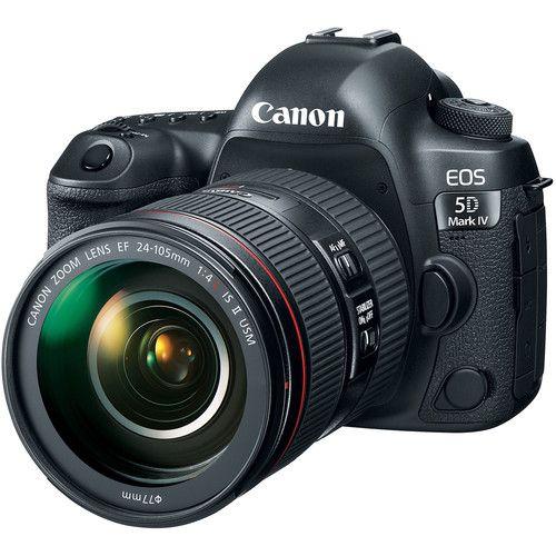 Câmera Canon EOS 5D Mark IV com Lente EF 24-105mm f/4L IS II USM