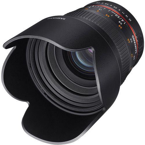Lente Samyang 50mm f/1.4 AS UMC para Canon