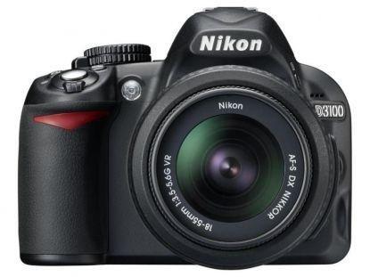 Câmera Nikon DX D3100 com Lente AF-S DX 18-55mm f/3.5-5.6G VR