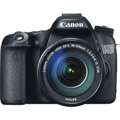 Câmera Canon EOS 70D com Wi-Fi com Lente EF-S 18-135mm f/3.5-5.6 IS STM