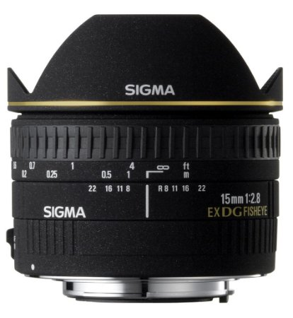 Lente Sigma DG 15mm f/2.8 Fisheye para Canon