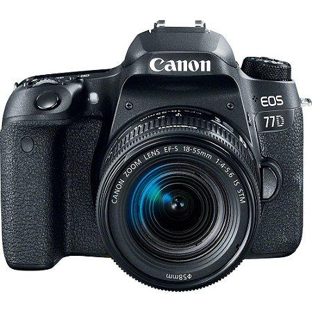 Câmera Canon EOS 77D com Lente EF-S 18-55mm f/4-5.6 IS STM