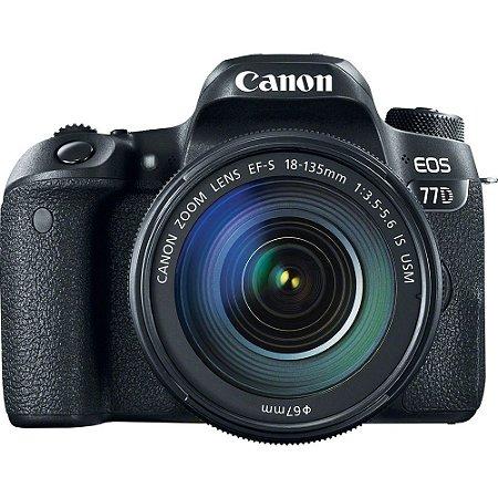 Câmera Canon EOS 77D com Lente EF-S 18-135mm f/3.5-5.6 IS USM