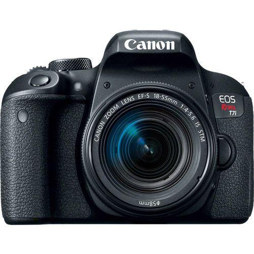 Câmera Canon EOS Rebel T7i com Lente EF-S 18-55mm f/4-5.6 IS STM